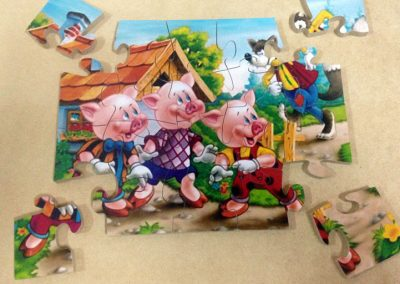 Puzzle tres chanchitos