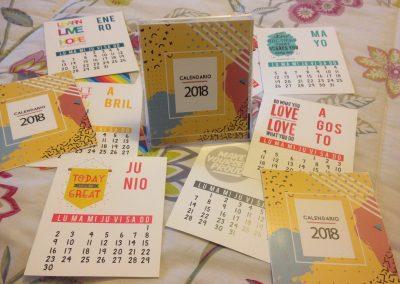 Cajita acrilica calendario