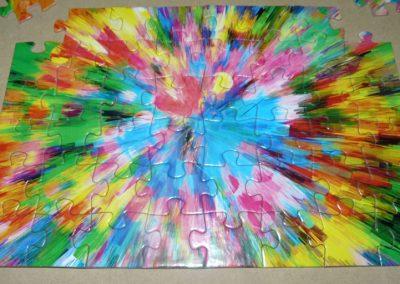 Puzzle troquelado colores