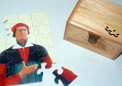 Puzzle + caja de madera